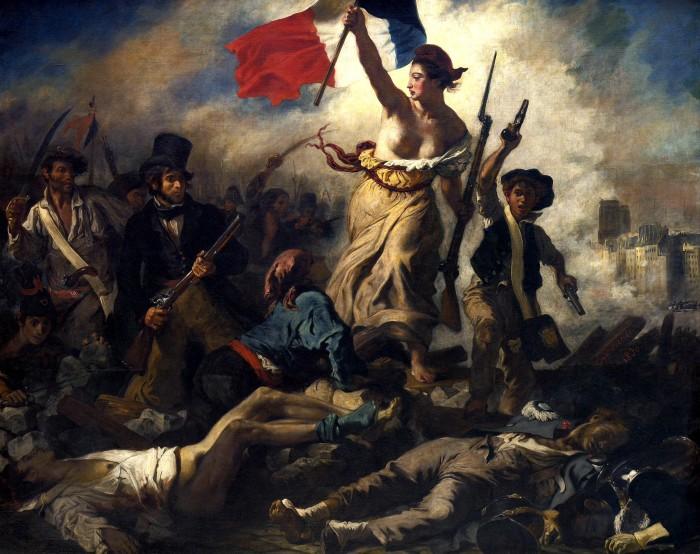 Эжен Делакруа: Свобода, ведущая народ, 1830 год.