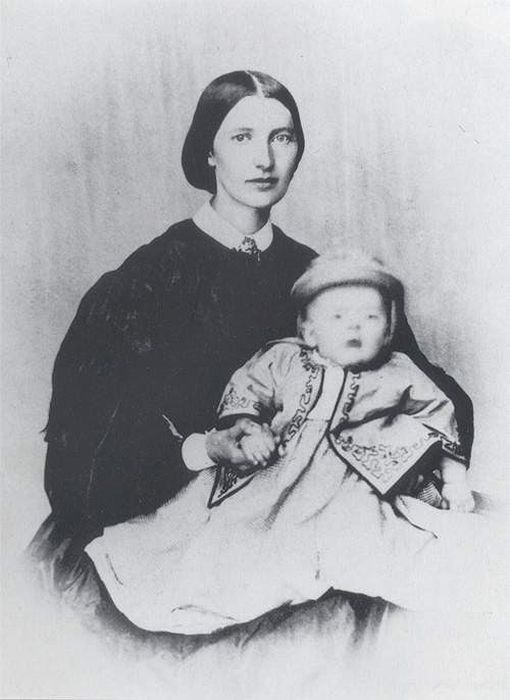 Мунк с матерью. \ Фото: livelib.ru.