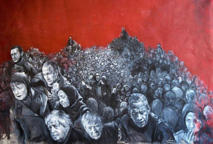 Толпа голодных и бездомных политиков. Автор: Abdalla Al Omari.