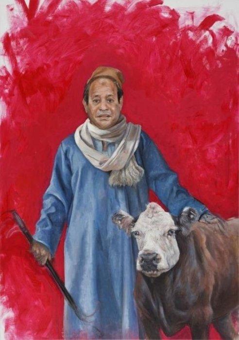 Египетский диктатор Абдель Фаттах Аль-Сиси как бедный крестьянин. Автор: Abdalla Al Omari.