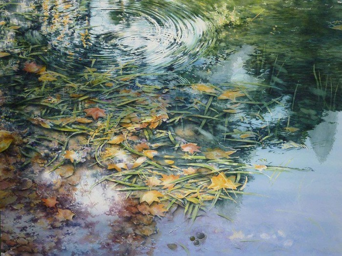 Опавшие листья. Автор: Abe Toshiyuki.