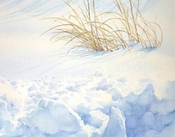 Белый снег. Автор: Abe Toshiyuki.