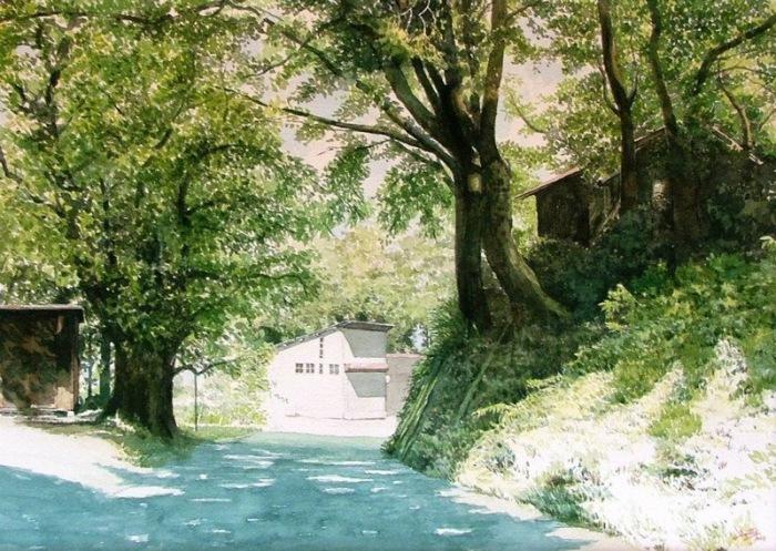 Маленькая деревня. Автор: Abe Toshiyuki.