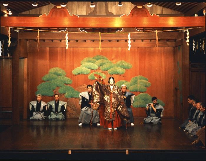 Музыканты театра кабуки. \ Фото: japan-in-baden-wuerttemberg.de.