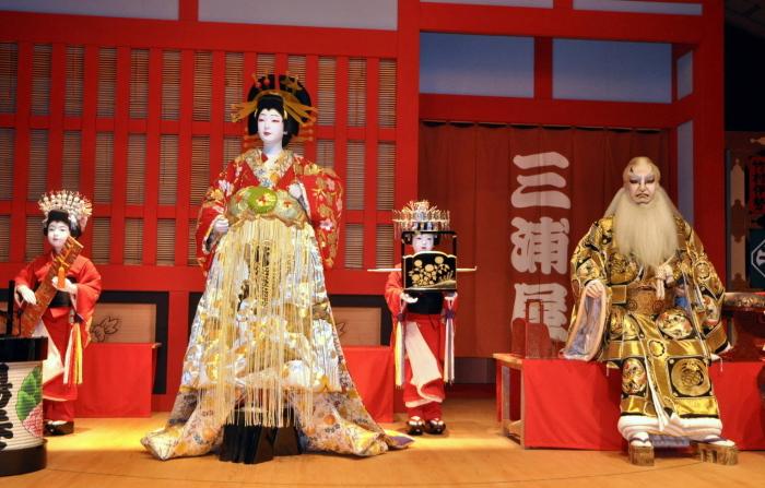 Все актёры в кабуки - мужчины. \ Фото: lina-travel.com.