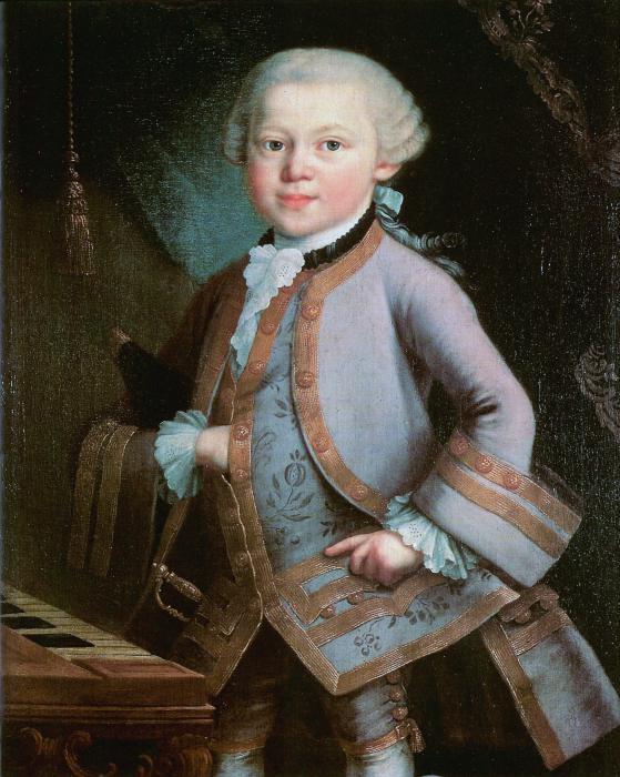 Вольфганг Амадей Моцарт в детстве. \ Фото: fb.ru.