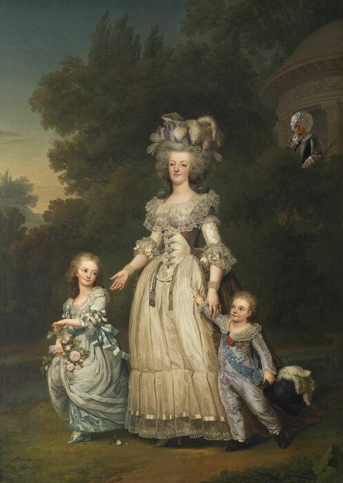 Адольф Вертмюллер: Мария-Антуанетта и её дети гуляют в парке Трианона, 1785 год. \ Фото: pinterest.co.uk.