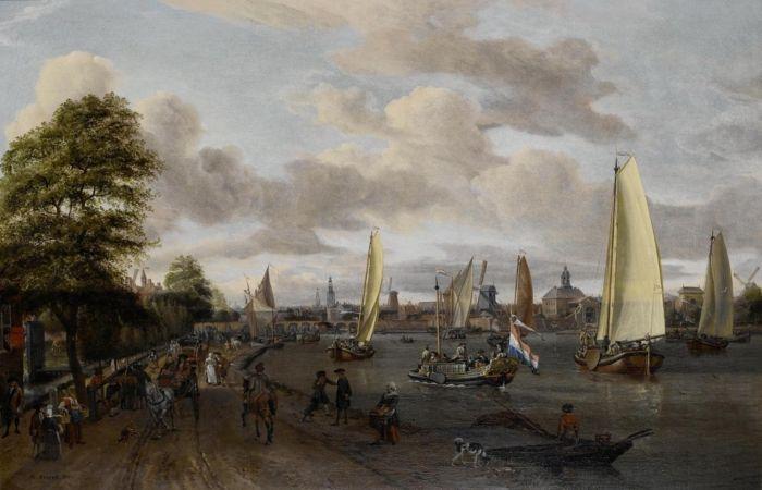Реки Бейтен-Амстел. Автор: Abraham Stork.