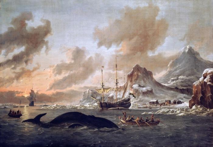 Голландские китобои возле Шпицбергена. Автор: Abraham Stork.
