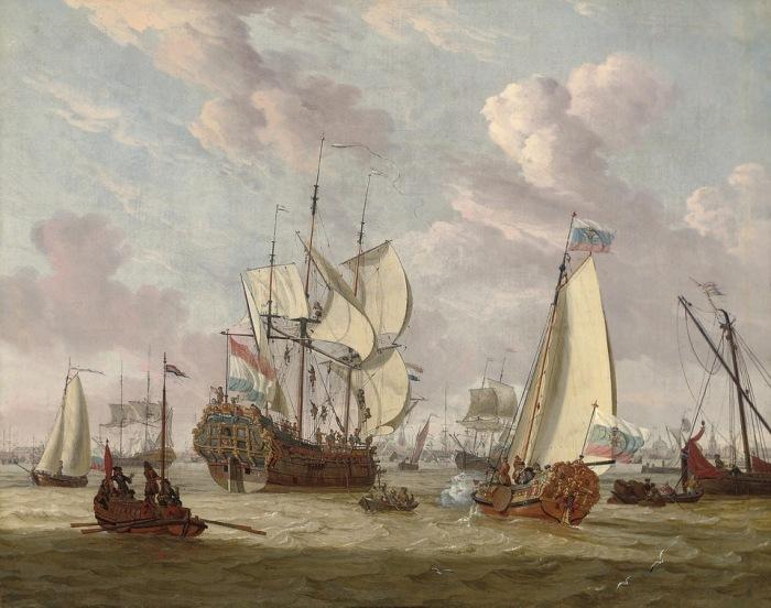Визит Петра I в Амстердам, август-сентябрь 1697 год.Автор: Abraham Stork.