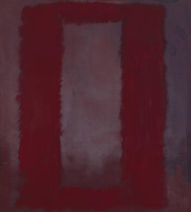 Красный на тёмно-бордовом, Марк Ротко, 1959 год. \ Фото: kaie14.blogspot.com.