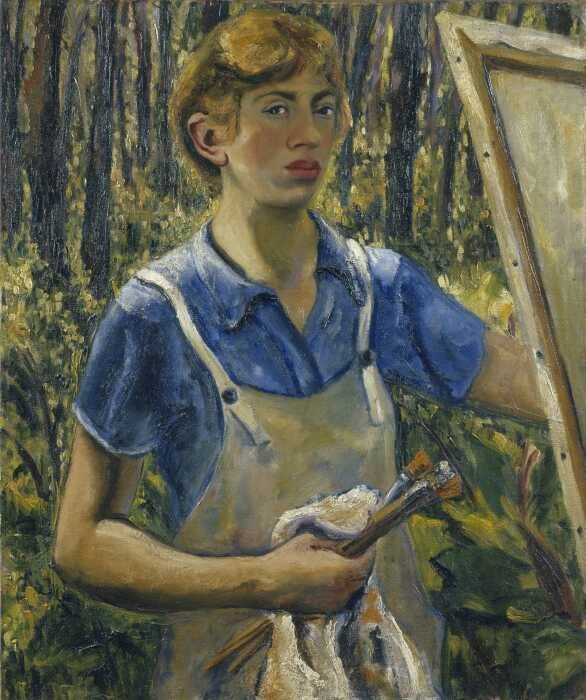 Автопортрет, Ли Краснер, 1928 год. \ Фото: divento.com.