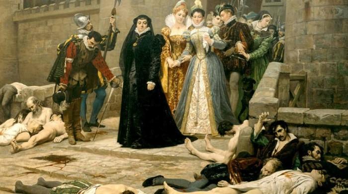 «Красная свадьба» - Варфоломеевская ночь, которой закончилась свадьба Генриха Наваррского и Маргариты Валуа, в ночь на воскресенье 24 августа 1572 года. \ Фото: livejournal.com.