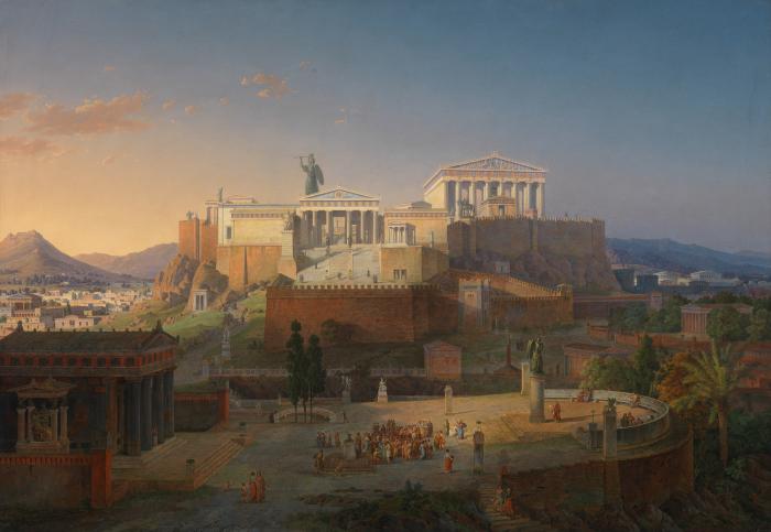Афинский Акрополь, Лео фон Кленце, 1846 год. \ Фото: wykop.pl.