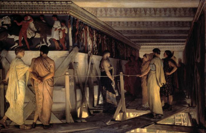 Фидий и фриз Парфенона, Альма-Тадема, 1868-9 гг. \ Фото: sh.wikipedia.org.