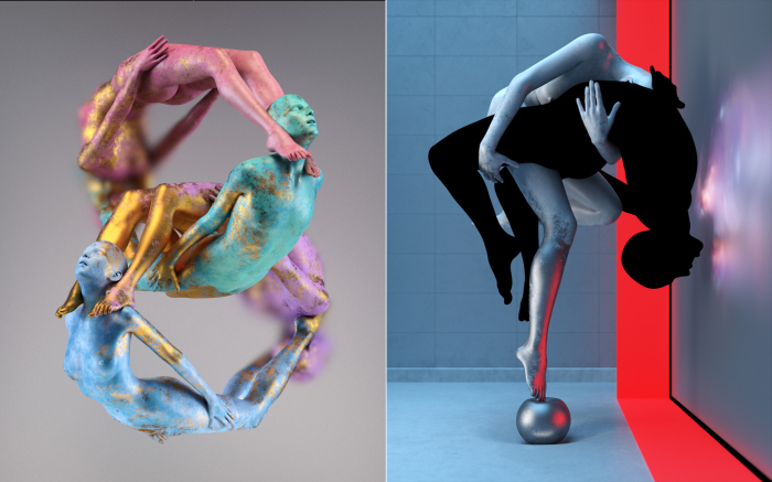 Чувственно-философские скульптуры о любви и боли от современного цифрового художника