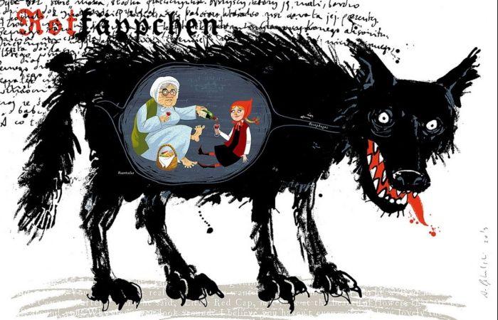 Красная Шапочка и бабушка. Автор: Адам Пикальский.