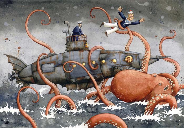 Чужище морское. Автор: Адам Пикальский.