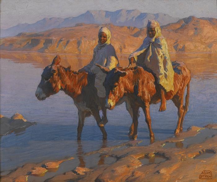 Женщины в пустыне. Автор: Adam Styka.