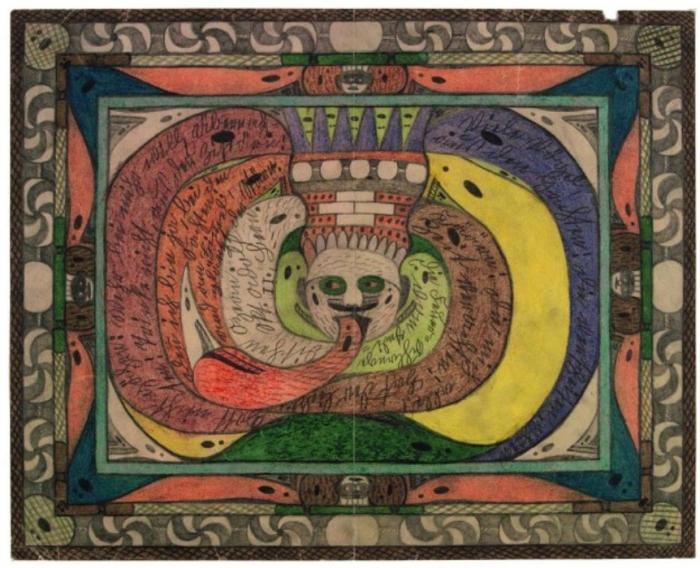 Кольцо змеи Святого Адольфа, в Индийском океане. Автор: Adolf Wolfli.