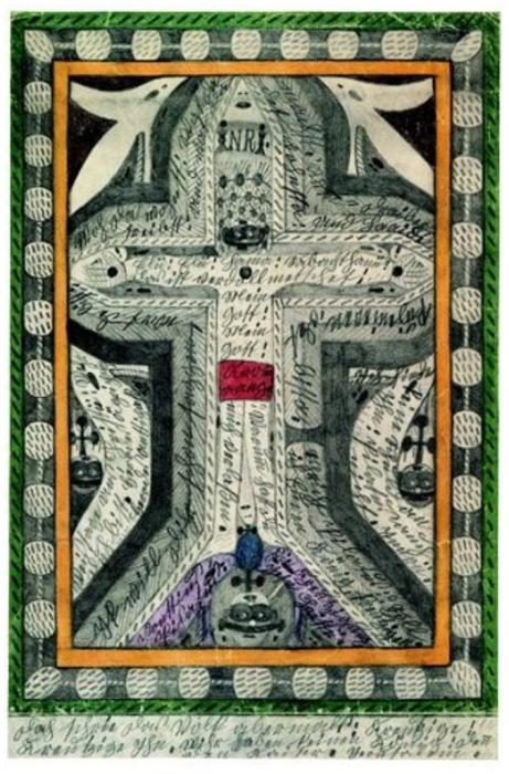 Распятие Иисуса Христа. Автор: Adolf Wolfli.