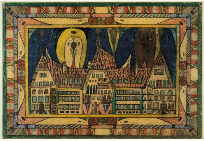 Психиатрическая клиника Вальдау, 1921 год. Автор: Adolf Wolfli.