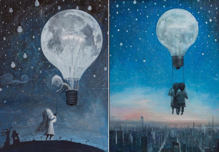 Он дал мне самую яркую звезду. | Наша любовь осветит ночь. Автор: Adrian Borda.