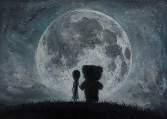 В моих снах ты всегда приводишь меня на Луну... Автор: Adrian Borda.