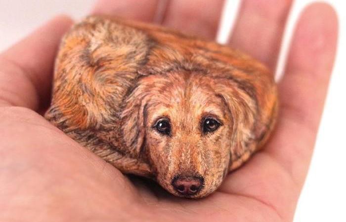 Японская художница превращает камни в животных. Автор: Akie Nakata.