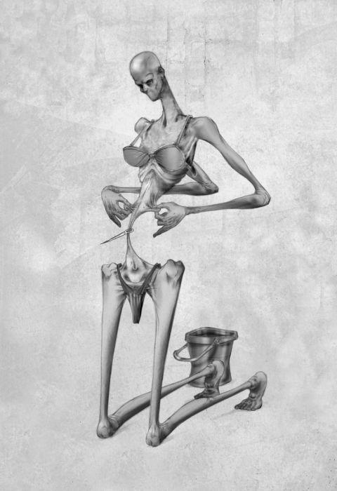 Жертва диеты. Автор: Al Margen.