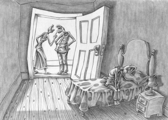 Тяжёлое детство. Автор: Al Margen.
