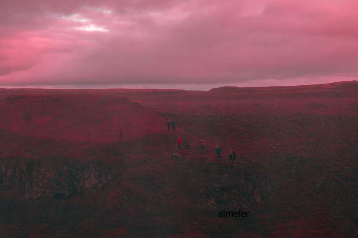 Розовый закат. Автор: Al Mefer.