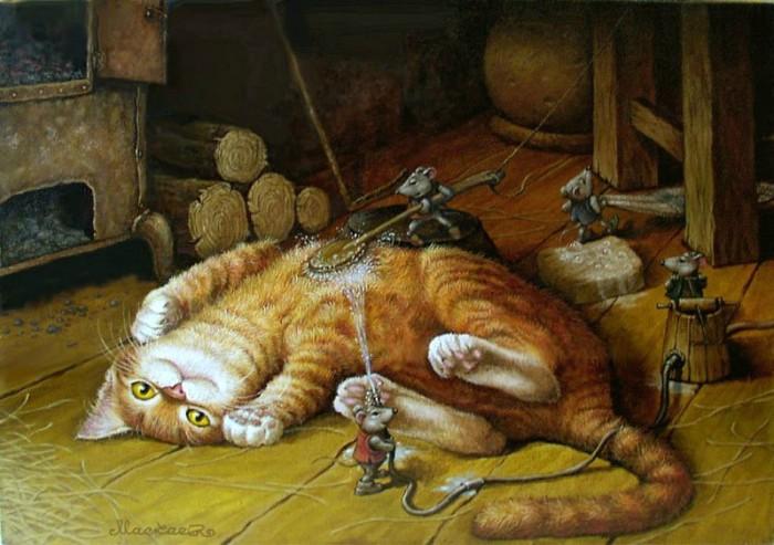 «Картины от печки» Приключения кота Кузьмы в сказочных работах Александра Маскаева