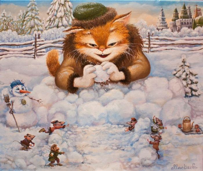 Зимние забавы. Автор: Александр Маскаев.