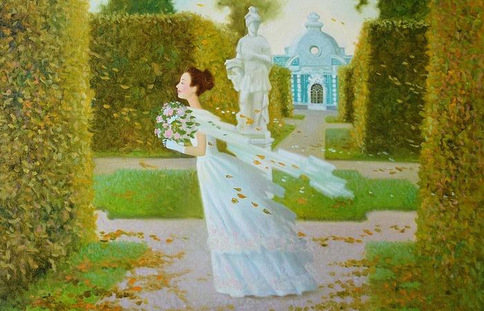 Романтические барышни на поэтических картинах, которые переносят в мир гармонии