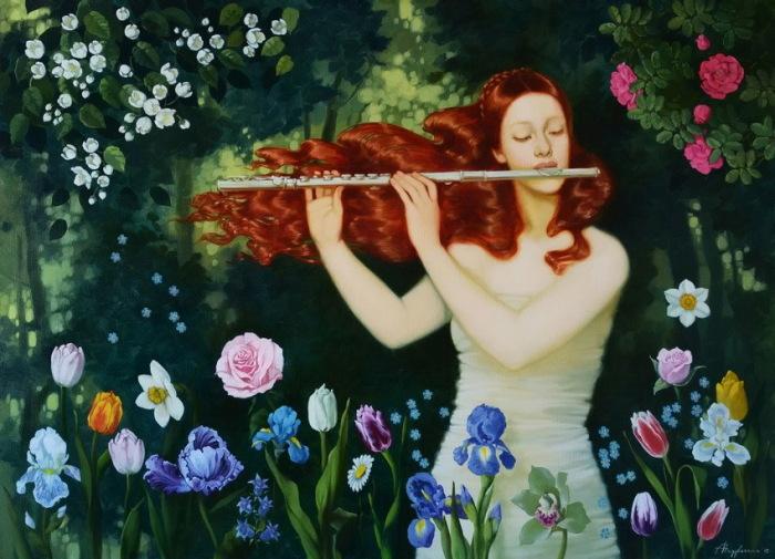 Музыка цветов. Автор: Александра Недзвецкая.