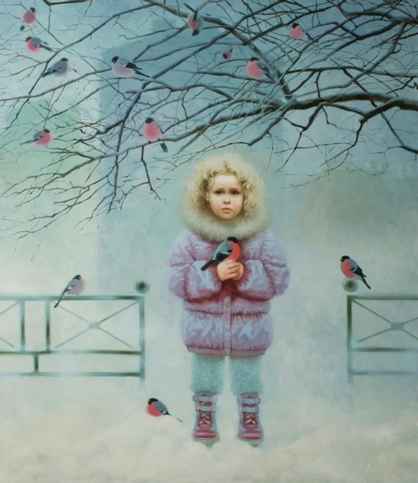 Зима. Автор: Александра Недзвецкая.