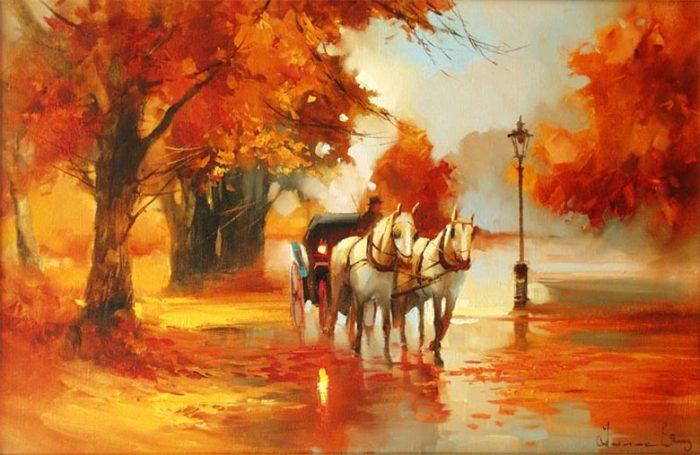 Осенняя выездка. Автор: Алексей Шалаев.