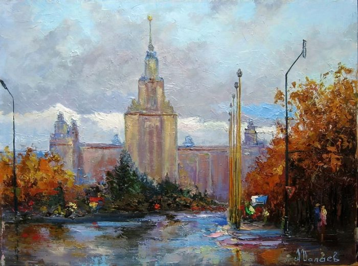Вид на здание МГУ. Автор: Алексей Шалаев.