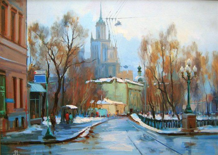 Яузсский бульвар. Автор: Алексей Шалаев.