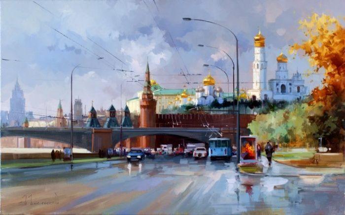 Кремлёвская набережная. Автор: Алексей Шалаев.