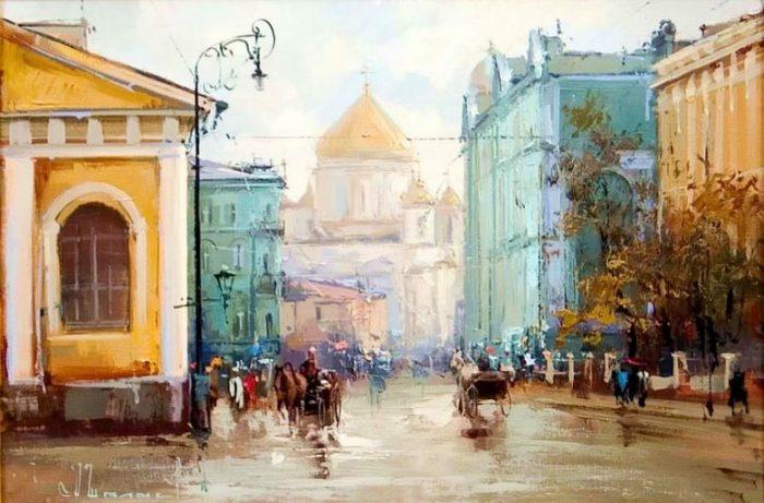 Улица Моховая. Автор: Алексей Шалаев.