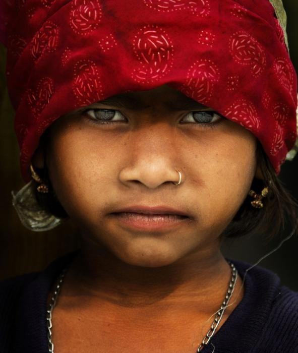 Портрет девочки. Фото Alessandro Bergamin.