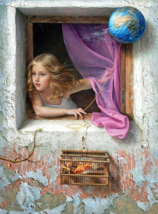 Девочка. Автор: испанский художник Алекс Алемани (Alex Alemany).