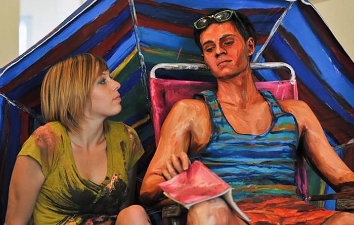 Художник создаёт «живые» трёхмерные картины, сбивающие зрителя с толку