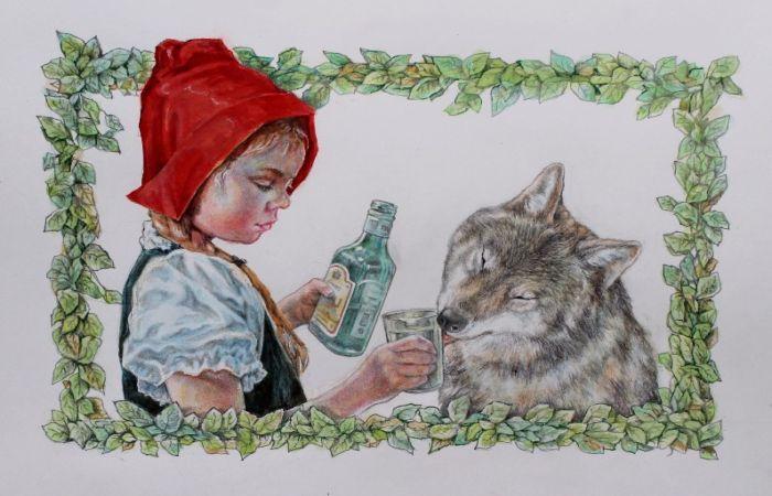 Красная Шапочка и Серый Волк. Автор: Александр Ботвинов.