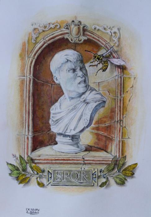 Автопортрет с осой,или финальная сцена крушения Римской империи. Автор: Александр Ботвинов.