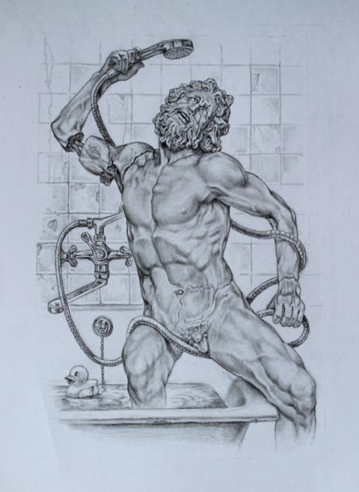 В ватиканском музее Пиа Климента отключили водоснабжение. Автор: Александр Ботвинов.