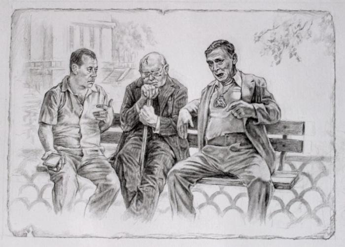 Персонажи «Мастера и Маргариты». Автор: Александр Ботвинов.