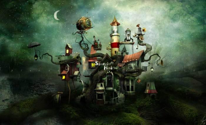 Загадочный дом. Автор: Александр Янссон (Alexander Jansson).